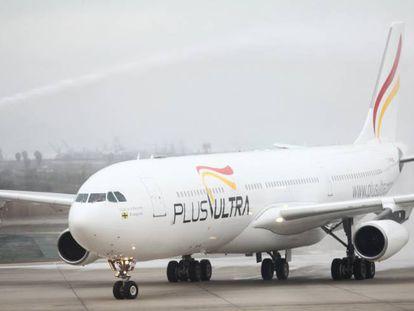 Un avión de Plus Ultra, en una imagen de archivo.