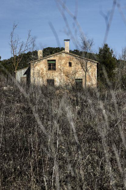 La casa de campo donde vive Beatriz Montañez desde hace cinco años.