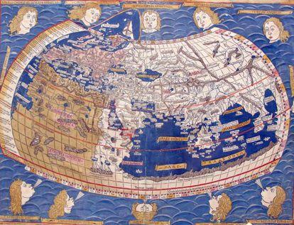 Mapa del mundo de Ptolomeo de 1482.