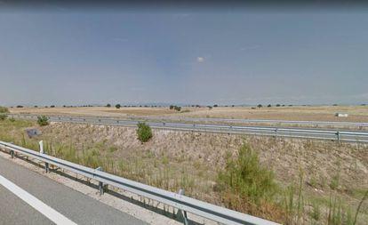La autovía A-5 a su paso por el municipio de Santa Cruz de Retamar (Toledo).
