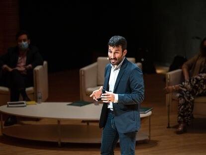 Marzà, en la presentación del Plan estratégico cultural 2021-2023, en el Palau de les Arts.