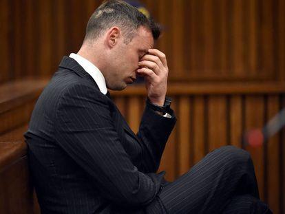 Oscar Pistorius, durante el primer día de la audiencia en Pretoria.