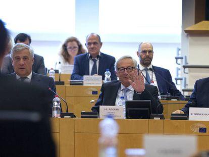 Jean-Claude Juncker, en la Conferencia de Presidentes celebrada el jueves en el Parlamento Europeo en Bruselas.