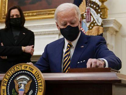 El presidente estadounidense, Joe Biden, este viernes en la Casa Blanca.