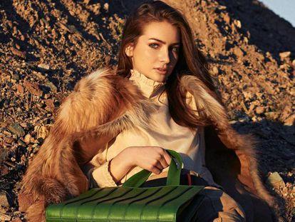Medow Walker, hija del actor Paul Walker, posando como modelo.
