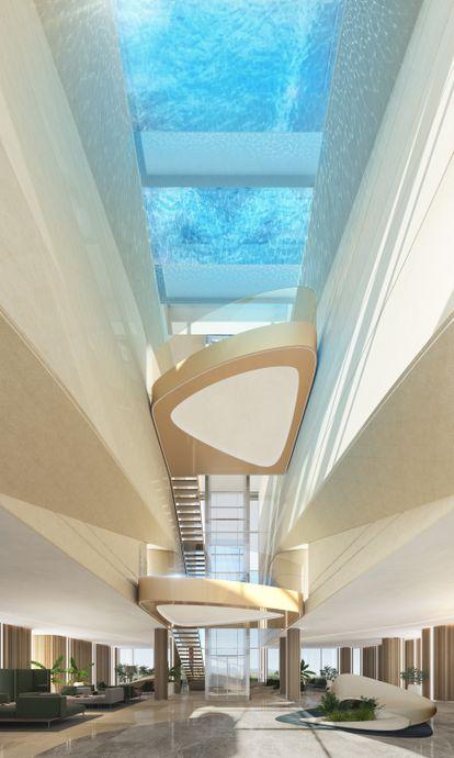 Los interiores tecnológicos de Liora siguen el estilo de Pininfarina, uno de los estudios más célebres del diseño automovilístico italiano.