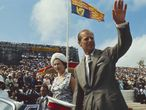 Isabel II y el príncipe Felipe, durante una visita a las Bahamas en 1966.