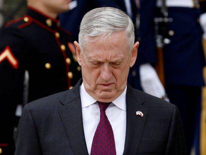 Jim Mattis, el pasado abril en el Pentágono.