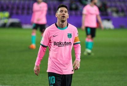 Messi, durante el último partido del Barcelona, el día 22 en Valladolid.