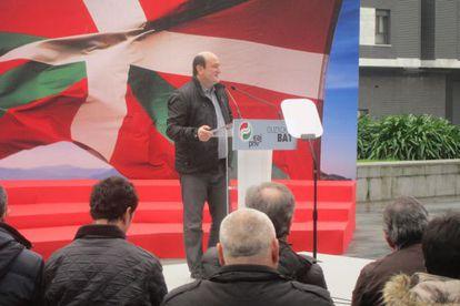 Andoni Ortuzar, durante su intervención en Galdakao.