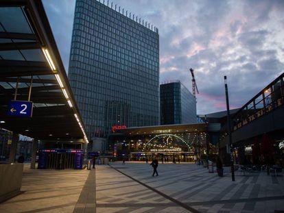 La estación principal de Viena al amanecer.