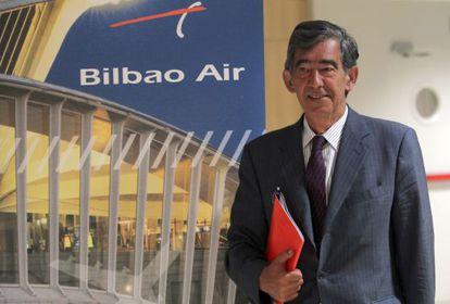 Jon Gangoiti, director general de Bilbao Air, ayer, en la Cámara de Comercio de Bilbao.