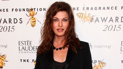 Linda Evangelista, en su última aparicion pública, en una entrega de premios en Nueva York en junio de 2015.