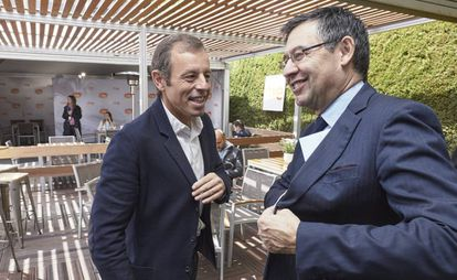 Sandro Rosell y Josep Maria Bartomeu, en una foto de archivo.