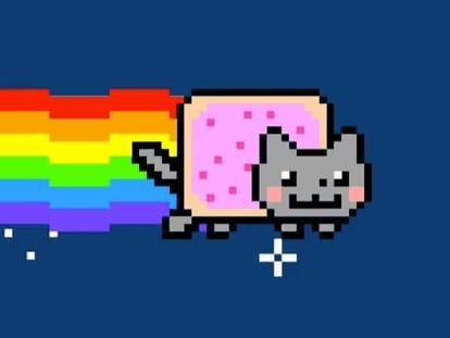 El GIF 'Nyan Cat', que se vendió por medio millón de euros hace unos meses.