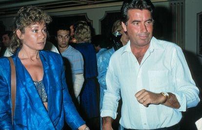 Mila Ximénez y Manolo Santana, en junio de 1979.