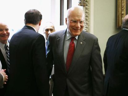 El senador Patrick Leahy, el líder de la delegación del Congreso de EE UU que ha viajado a Cuba.