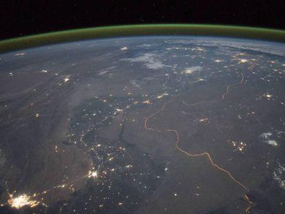 Imagen tomada por un astronauta a bordo de la Estación Espacial Internacional.