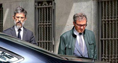 Jordi Pujol Ferrusola a su llegada para declarar en la Audiencia Nacional.