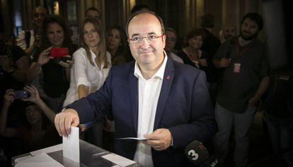 Miquel Iceta, en las elecciones de 2015.
