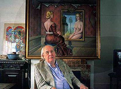El escritor, J. G. Ballard, en 2003.
