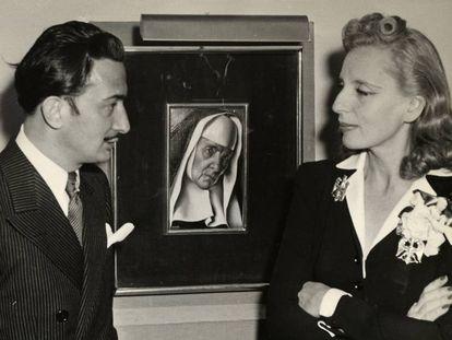 Tamara de Lempicka y Salvador Dalí, en Nueva York, 1941.