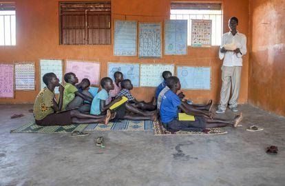 Alumnos de una escuela en Sudán del Sur.