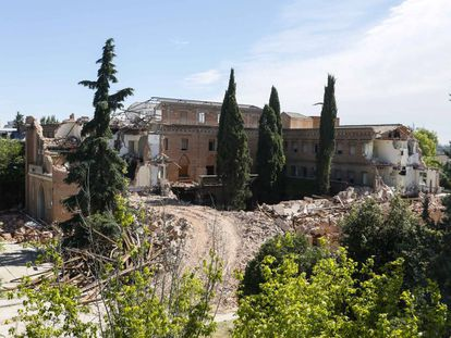 Estado en el que quedó el convento de las Damas Apostólicas, situado en el paseo de la Habana de la capital.