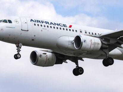 Un avión de la aerolínea francesa Air France.