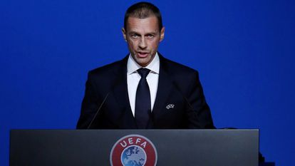 Aleksander Ceferin, UEFA president, in a file image.