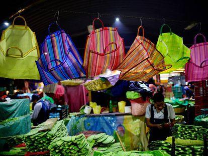 El mercado de abastos de la Ciudad de México, en diciembre.
