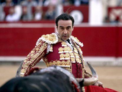 Enrique Ponce, ante uno de sus toros en la feria de Albacete.