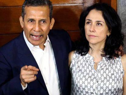 Ollanta Humala y su esposa Nadine Heredia el pasado 30 de abril.