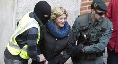 La Guardia Civil detiene a Arantza Zulueta en la operación del 8 de enero