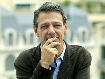 Álvaro Enrigue, esta mañana en Barcelona.