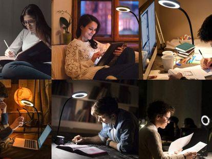 La lámpara más vendida en Amazon proporciona tres tonos de luz: blanca, mixta y amarilla.