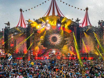 El escenario principal de Tomorrowland 2017.