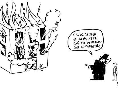 El incendio en una nave de Badalona, según Flavita Banana