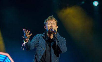 Damon Albarn durante su actuación.