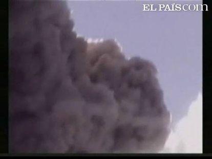 """El volcán colombiano """"Galeras"""" ha entrado en erupción por segunda vez en 24 horas. Las autoridades han ordenado la evacuación de unos 8.000 habitantes de las zonas de alrededor para evitar riesgos. Por el momento no ha habido ningún tipo de daño material ni personal, sólo las calles y casas comienzan a cubrirse de cenizas."""