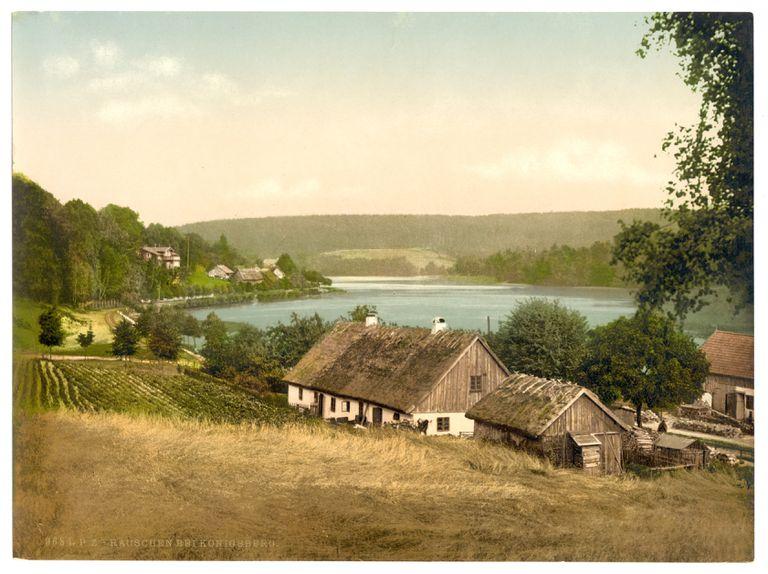 Paisaje de Prusia oriental en 1895.