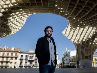 Dani de Morón, la pasada semana en la plaza Metropol Parasol (Sevilla).