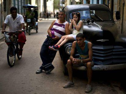 Una escena de una calle de La Habana el pasado miércoles.