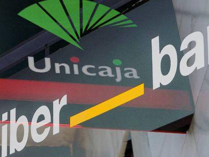 Logotipos de Unicaja y Liberbank.
