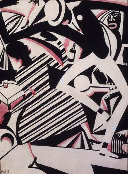 'Interpretación de Harlem Jazz' (1925), de Winold Reiss.