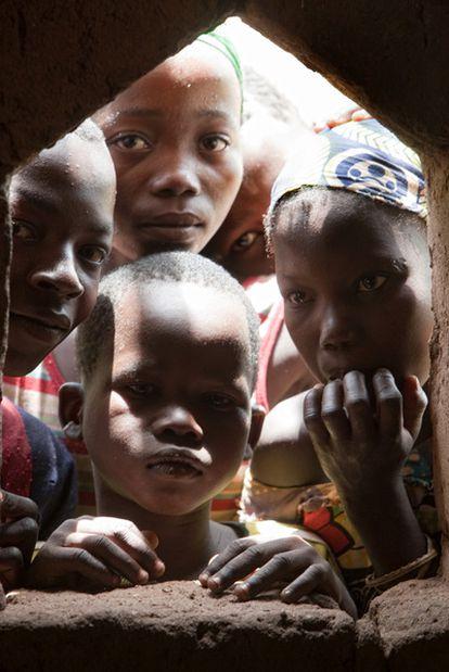 Un grupo de niños de la  República Centroafricana.