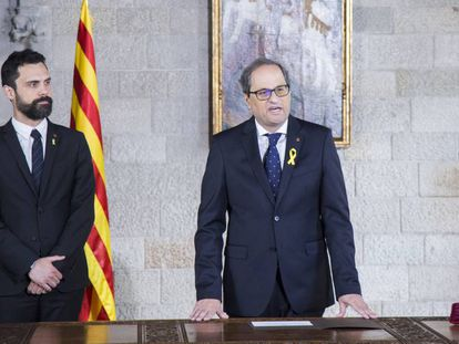 17/05/2018 Quim Torra promete el cargo de 131 presidente de la Generalitat.