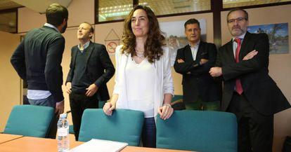 La eurodiputada Carolina Punset (c), este viernes.