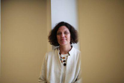 Connie Yowell en la Fundación Telefónica en Madrid.
