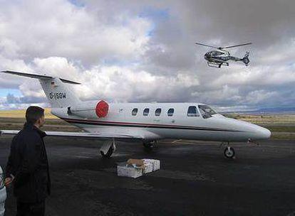 Avión con el que se abrió una ruta aérea de cocaína entre Guinea-Bissau y Fuentemilanos (Segovia).